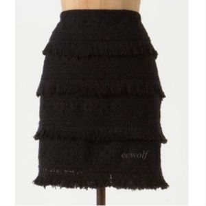 HD in Paris Eyelet Fringe Tiered Mini Skirt Size 0